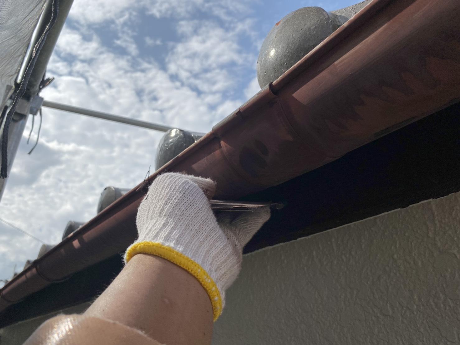 樋の塗り替え